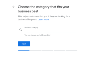 Choose The Business Catagory